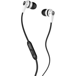 Skullcandy - Ink'd 2.0 Stereo Earbuds with Mic in White/Black