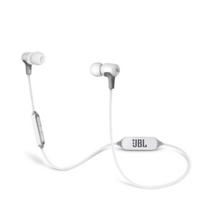 JBL E25 IN Ear Bluetooth Wireless Headphones w/Remote - White