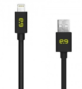 PureGear 8-Pin Lightning to a USB-A Charging/Sync (4-Foot) Cable, Black
