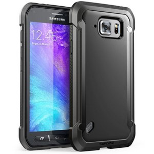 SUPCASE Unicorn Beetle Premium Hybrid Protective Clear Case for Galaxy S6 Active(Black)