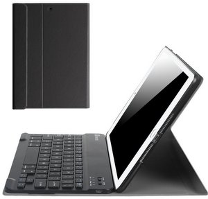 Premium iPad Keyboard Case - Slim Shell Stand Cover w/ Magnetically Detachable Wireless Bluetooth Keyboard