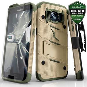Zizo Military 12-Foot Drop Grade Bolt Combo Case, Kick Stand, Belt Clip & Glass Screen Protector (Camo)