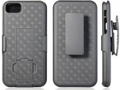 Premium FITTED COMBO CASE Holster & Protective Shell w/Kickstand & Belt Clip (LG K30)