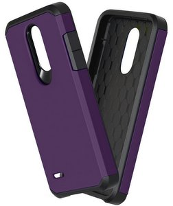 OEAGO Hybrid Shockproof Drop Protection Impact Rugged Heavy Duty Dual Layer Case Armor Cover (Purple)