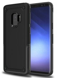 Hybrid Armor Dual Layer, Shock Absorbent Case Samsung Galaxy S9 Plus (Black)