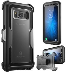 i-Blason Galaxy S8 Active Case, [Heavy Duty Protection] Shock Reduction/Bumper Case w/Built-in Screen Protector