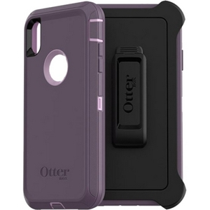 OtterBox DEFENDER Series Screenless Edition Case w/Belt Clip for iPhone Xs Max (Purple Nebula)