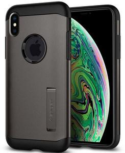 Spigen - Slim Armor Case For Apple iPhone Xs Max - Gunmetal