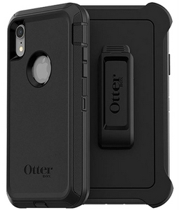 OtterBox DEFENDER Rugged Screenless Edition Case w/Belt Clip For iPhone XR Black
