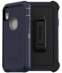 OtterBox DEFENDER Rugged Screenless Edition Case w/Belt Clip For iPhone XR Dark Lake