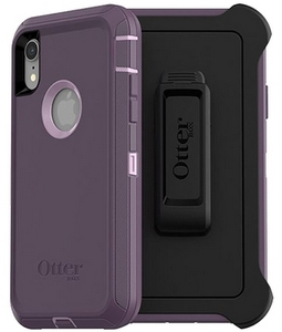 OtterBox DEFENDER Rugged Screenless Edition Case w/Belt Clip For iPhone XR Purple Nebula