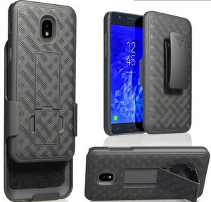 Premium FITTED Duo Armor Combo Case w/Stand and Belt Clip for Apple iPhone (BLACK)