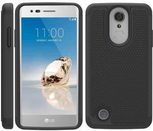 OEAGO Shockproof Hybrid TPU Dual Layer Phone Case, Black