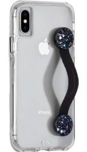 Case-Mate Strap Black Glitter