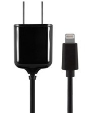 Xentris 2.4A Lightning 8-Pin Travel Wall Charger w/Attached Power Cord (Black)