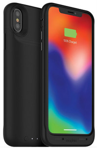 mophie - Juice Pack Power Bank Case 2,200 mAh for Apple iPhone XS / X / XR- Black