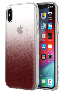 Incipio - Design Classic Case for Apple iPhone Xs / X - Cranberry Sparkler