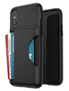 Speck - Presidio Wallet Case for Apple iPhone Xs / X - Black