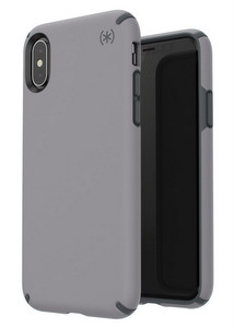 Speck - Presidio Pro Case for Apple iPhone Xs / X - Filigree Gray And Slate Gray