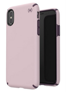 Speck - Presidio Pro Case For Apple iPhone Xs / X - Meadow Pink and Vintage Purple