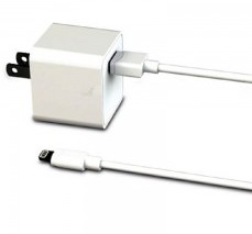 Xentris Apple 8-Pin Lightning 2.4 Amp Single Port Travel/Wall Charger w/(6-Foot) Detachable Cord (White)