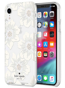 Kate Spade - Hardshell Case for Apple iPhone XR - Hollyhock Floral