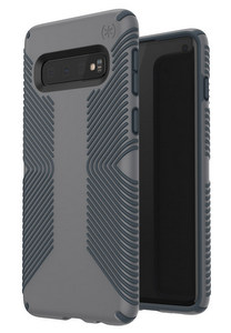 Speck - Presidio Grip Case for Samsung Galaxy S10 -Graphite Gray & Charcoal Gray