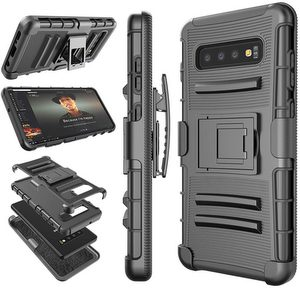 Premium FITTED Duo Armor Combo Case w/Stand & Belt Clip (Black)