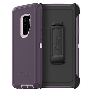 OtterBox Defender Series Screenless Edition Case w/Belt Clip for Galaxy S9+ Purple Nebula