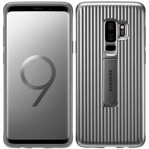 Samsung Galaxy S9+ Rugged Military Grade Protective Case with Kickstand, Silver