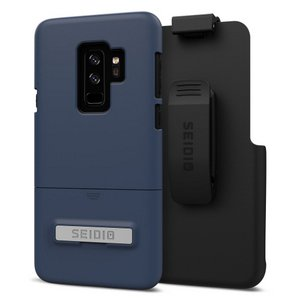 Seidio Surface Combo with Kickstand & Belt Clip for Samsung Galaxy S9 Plus (Midnight Blue/Black)