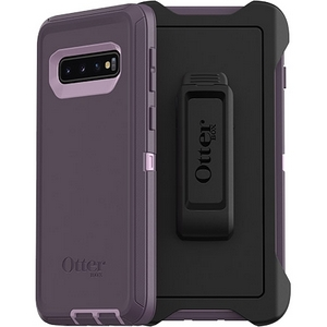 OtterBox Defender Screenless Edition Case w/Belt Clip For Samsung Galaxy S10 Plus Purple Nebula