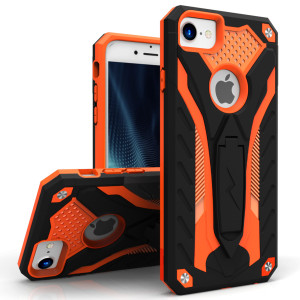 Zizo Static Series Case Military Grade Drop Tested with Built in Kickstand (Orange/Black)