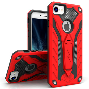 Zizo Static Series Case Military Grade Drop Tested with Built in Kickstand (Red/Black)