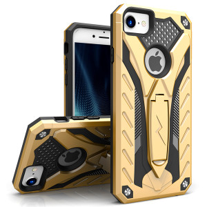 Zizo Static Series Case Military Grade Drop Tested with Built in Kickstand (Gold/Black)