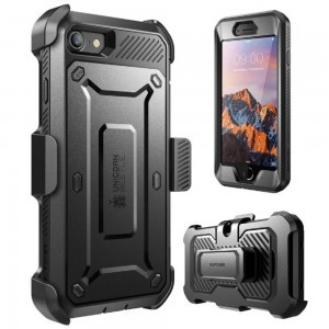 Supcase Unicorn Beetle Pro Rugged Case with Built-in Screen Protector and Holster (Black)