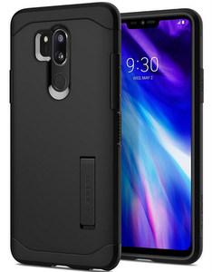 Spigen - Slim Armor Case for LG G7 ThinQ - Black