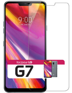 Cellet - Fitted Tempered Glass Screen Protector for LG G7 ThinQ - Clear