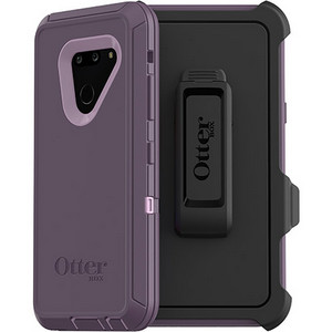 OtterBox DEFENDER Rugged Screenless Edition Case w/Belt Clip For LG G8 thinQ (Purple Nebula)