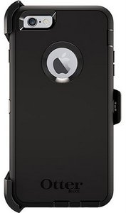 OtterBox DEFENDER Case for Apple iPhone 6Plus w/Clip (Black)