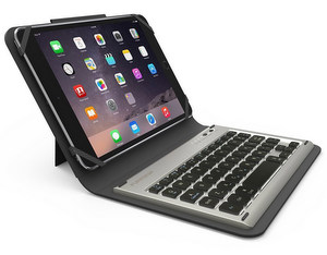 PureGear - Keyboard Folio Case for 8.9 to 10.1 Inch Tablets - Black