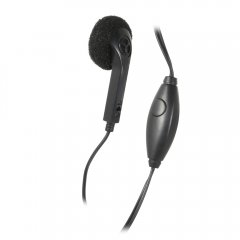 Premium Universal 2.5mm Earpiece Headset w/Microphone (Black)