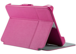 Speck - StyleFolio Flex Case fits most 7 to 8 Inch Tablets - Fuchsia and Nickel Gray