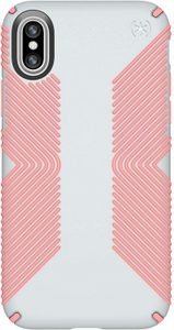 Speck - Presidio Grip Case for Apple iPhone Xs / X - Veil White and Lipliner Pink