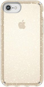 Speck - Presidio Clear + Glitter Case for Apple iPhone 8 / 7 / 6s / 6 - Clear and Gold Glitter