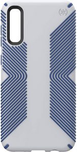 Speck - Presidio Grip Case for Samsung Galaxy A50 - Microchip Gray and Ballpoint Blue