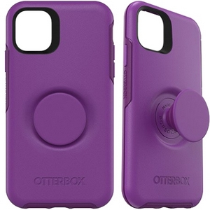 OtterBox Otter + Pop SYMMETRY Case with PopSockets Swappable PopGrip for Apple iPhone 11 - Lollipop