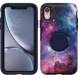 OtterBox Otter + Pop SYMMETRY Case with PopSockets Swappable PopGrip for Apple iPhone XR - Blue Nebula
