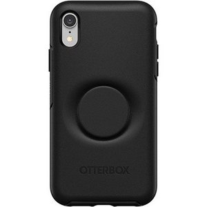 OtterBox Otter + Pop DEFENDER Case with PopSockets Swappable PopGrip for Apple iPhone XR - Black