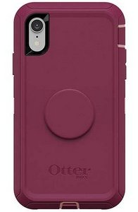 OtterBox Otter + Pop DEFENDER Case with PopSockets Swappable PopGrip for Apple iPhone XR - Fall Blossom